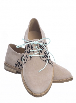 Young British Designers: BUTTERKISS Soft Tan Suede Brogue  by Rogue Matilda