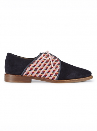 CHECKMATE Blue Suede Brogues  by Rogue Matilda