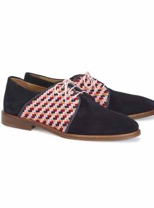 Young British Designers: CHECKMATE Blue Suede Brogues  by Rogue Matilda