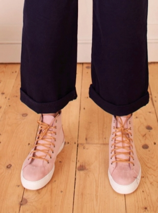 NUBUCK HIGH TOP Sneaker. Pink by LF Markey