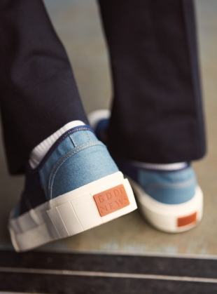 Young British Designers: ACE. Baby Blue Low Top Trainer by Good News