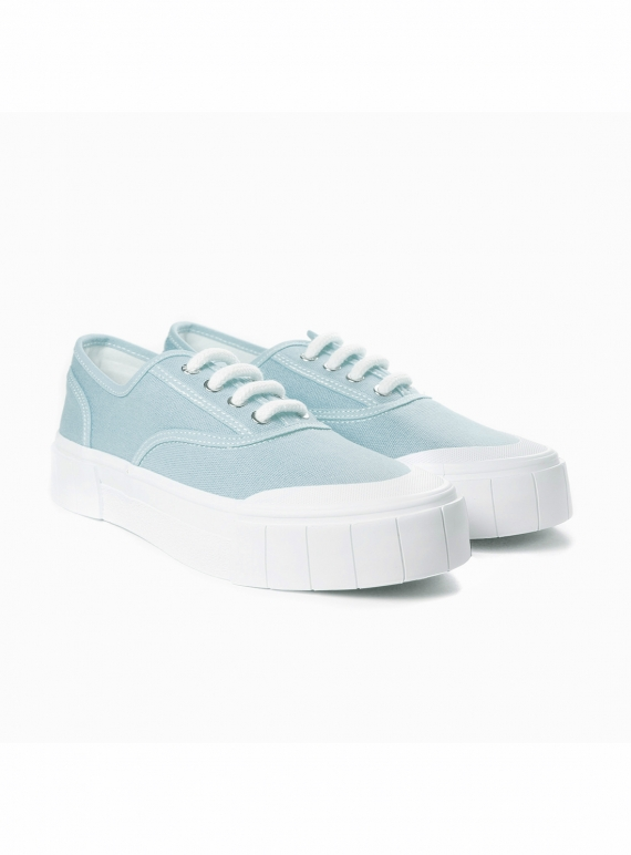 Young British Designers: ACE. Baby Blue Low Top Trainer - Last pair (10) by Good News