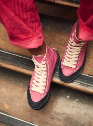 JUICE Pink Jute High Top Trainers by Good News