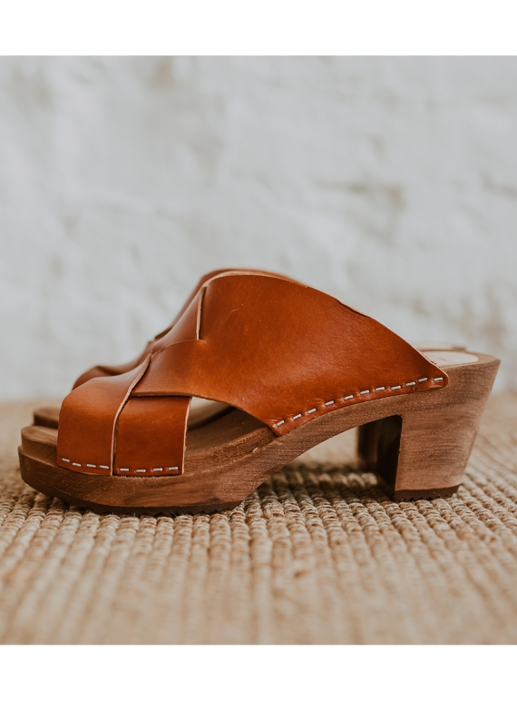 Young British Designers: CUMIN Leather Aventyr Clog by Kitty Clogs Sweden