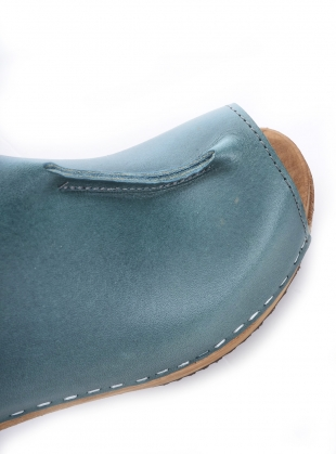 Young British Designers: Agave Leather Mid Kraft Clog by Kitty Clogs Sweden