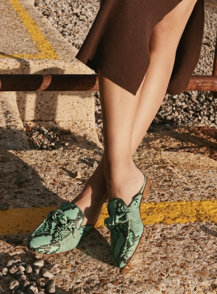 Young British Designers: LOCOMOTION SLIDES. Mint Snake by Rogue Matilda