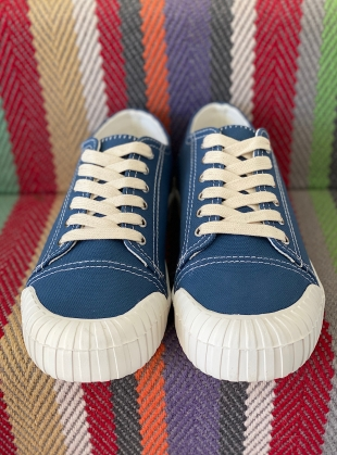 Young British Designers: BAGGER Denim Low Top Trainer by Good News