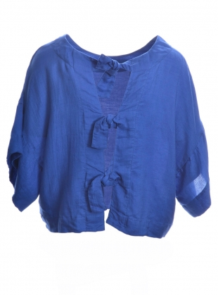 Young British Designers: TAVIRA BLOUSE in Dusk Blue by COR Clothes