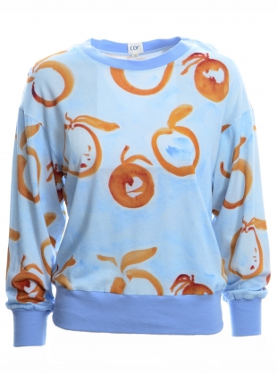FUSETA SWEAT in Laranja Print by COR