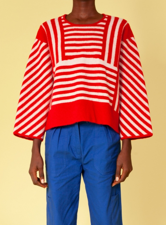 Young British Designers: MURPHY KNIT. Red. by LF Markey