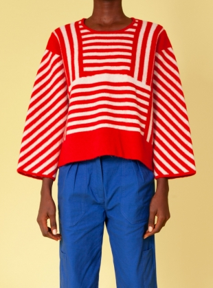 Young British Designers: MURPHY KNIT. Red. - last one by LF Markey