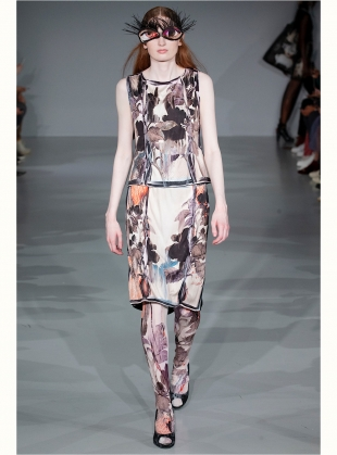 Young British Designers: THE NIGHT YOU LEFT SILK VEST - Last one (S) by IA London