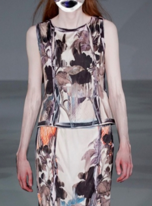 Young British Designers: THE NIGHT YOU LEFT SILK VEST  by IA London