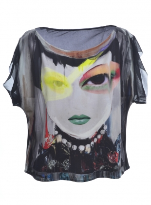 THE OVERSIZED LUCID SILK TEE - last one (S) by IA London