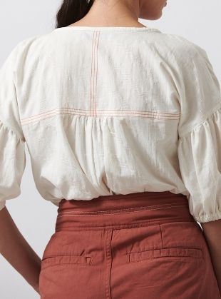 Young British Designers: WHITE FERN SHIRT by SIDELINE