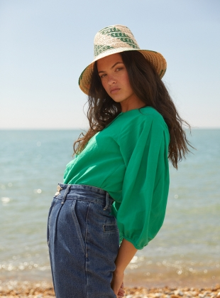 Green FOLKE TOP by SIDELINE