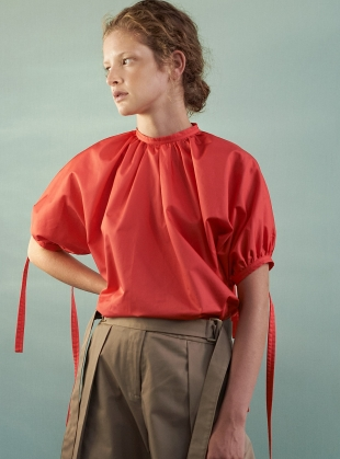 TASHA TOP. Hot Coral by Eudon Choi