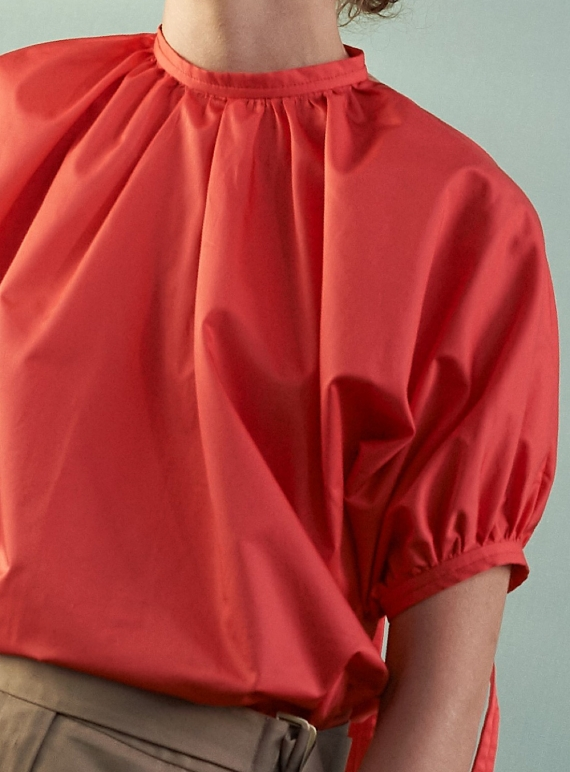 Young British Designers: TASHA TOP. Hot Coral - Last one (16) by Eudon Choi