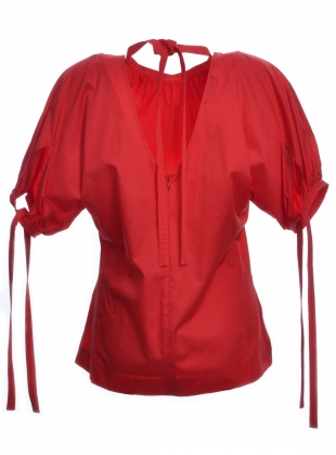 Young British Designers: TASHA TOP. Hot Coral by Eudon Choi