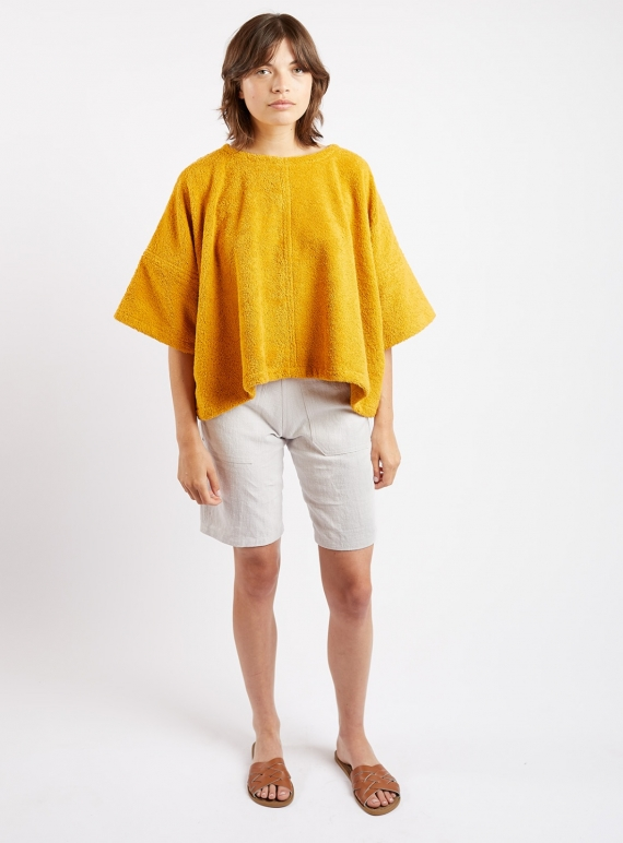 EDIE TOP. Yellow Terry. by Kate Sheridan