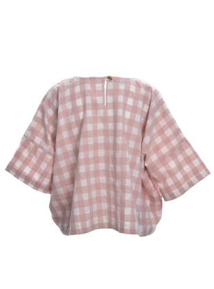 Young British Designers: EDIE TOP. Rose Gingham. by Kate Sheridan