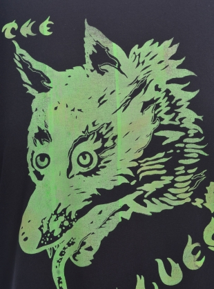 Young British Designers: WOLF T-SHIRT. Black by Klements