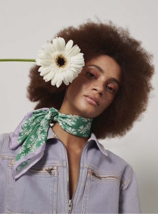 Meadow Scarf in Green by Rogue Matilda