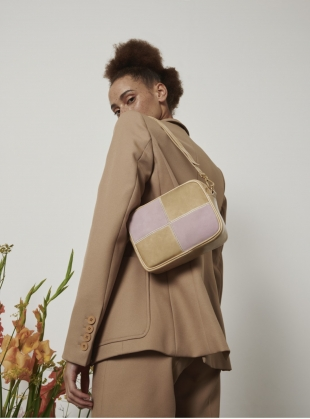 BATTENBERG BAG. Biscotti and Pink by Rogue Matilda