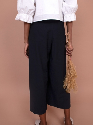 Young British Designers: SANNE TROUSERS. Navy by Meadows