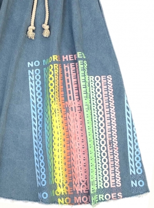 Young British Designers: No More Heroes DENIM MAXI SKIRT by Simeon Farrar
