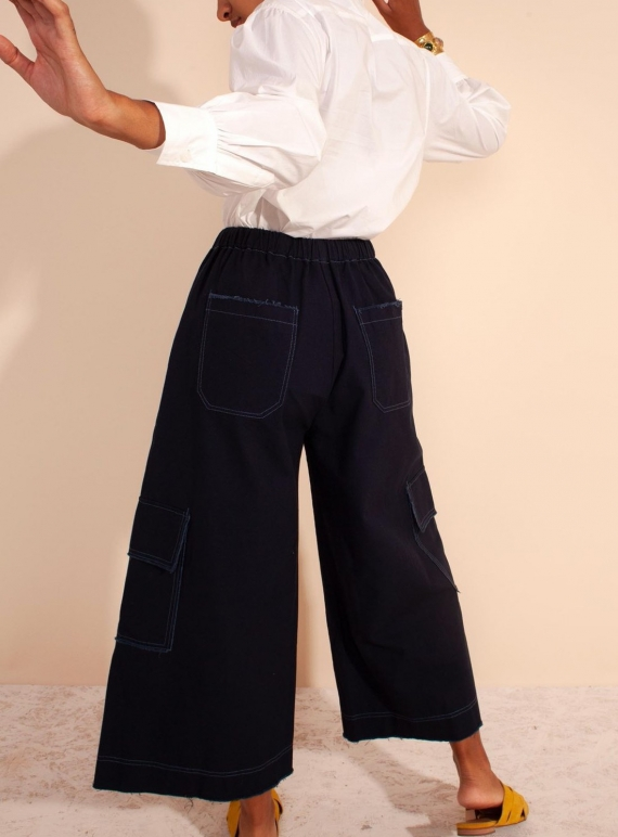 Young British Designers: ELLIS TROUSERS. Navy by LF Markey