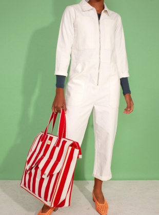 DOMINIC BOILERSUIT. White by LF Markey