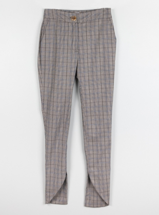Ethically Made Checked Skinny Trouser by Fanfare Label