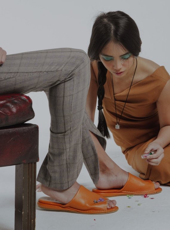 Young British Designers: Ethically Made Checked Skinny Trouser by Fanfare Label