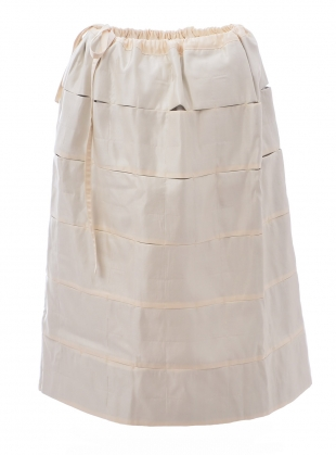 QUILTED PUFF SKIRT. Ivory by Phoebe English