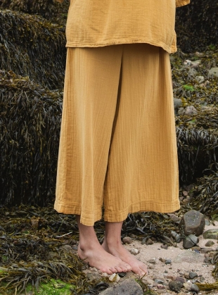 Young British Designers: EVORA ORGANIC COTTON TROUSERS. Sun by Beaumont Organic