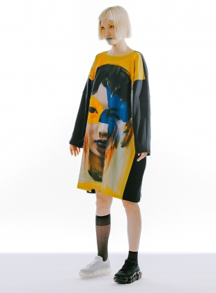 MOON DRESS I. Oversized Organic Cotton/Viscose Jersey by IA London