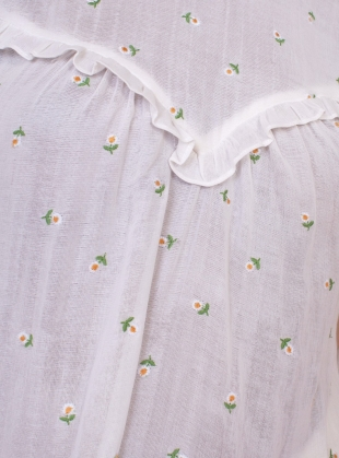 Young British Designers: CAMELLIA DRESS. Daisy Embroidery by Meadows