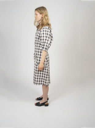 Young British Designers: NAMPARA Dress. Black and White Gingham by Kate Sheridan