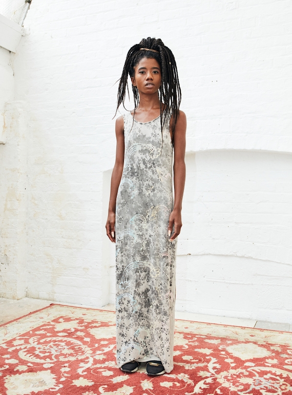 Young British Designers: MAXI DRESS with rainbows and stars  by Simeon Farrar