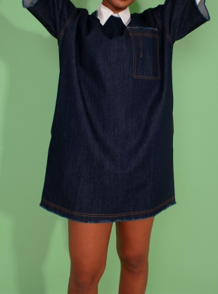 ELI DRESS. Indigo by LF Markey