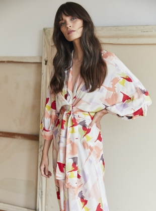 GLORIA KIMONO DRESS. Doves  by Tallulah & Hope