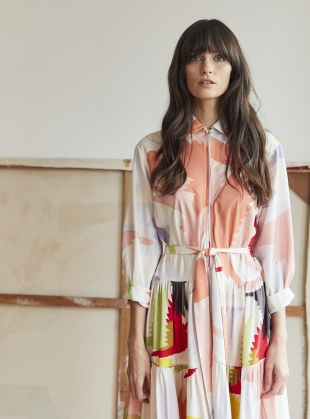 Young British Designers: ZIP FRONT DRESS. Honeyguide by Tallulah & Hope