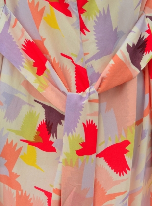 Young British Designers: GLORIA KIMONO DRESS. Doves  by Tallulah & Hope