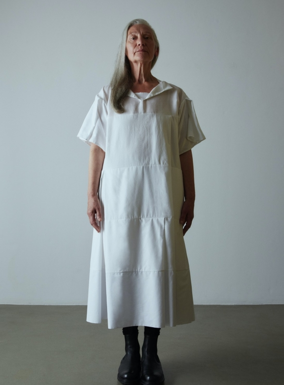 Young British Designers: TURN OVER DRESS. White by Phoebe English