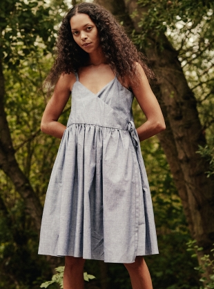 Young British Designers: PETRA Dress. Faded Denim by RIYKA