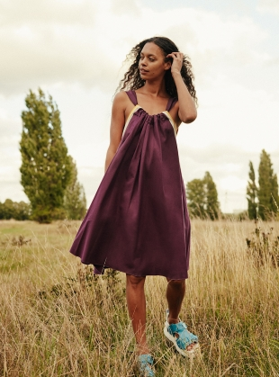 LIVIA Dress. Berry Combo by RIYKA