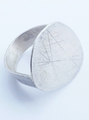 Large Silver Pebble Ring by Sarah Drew Jewellery