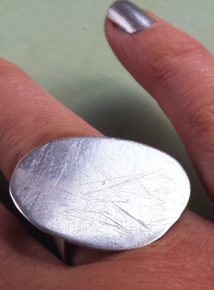 Young British Designers: Large Silver Pebble Ring by Sarah Drew Jewellery
