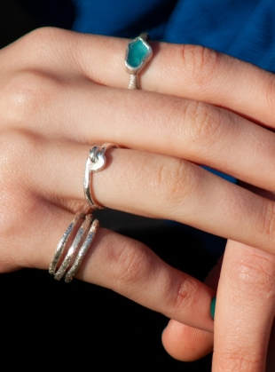 Young British Designers: Silver Love-Knot Ring by Sarah Drew Jewellery